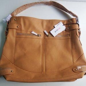 NWT Large Carmel Shoulder Tote Bag